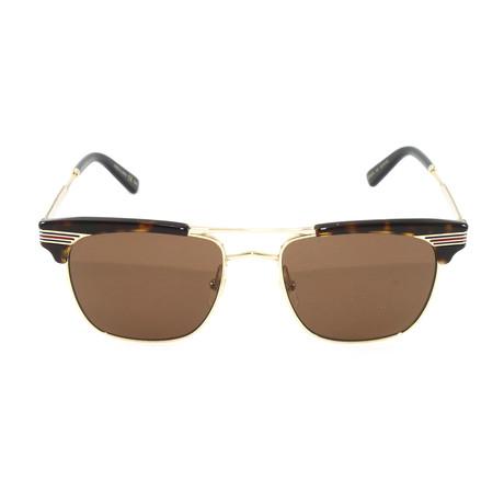 Gucci Unisex Sunglasses // GG0287S // Avana + Gold