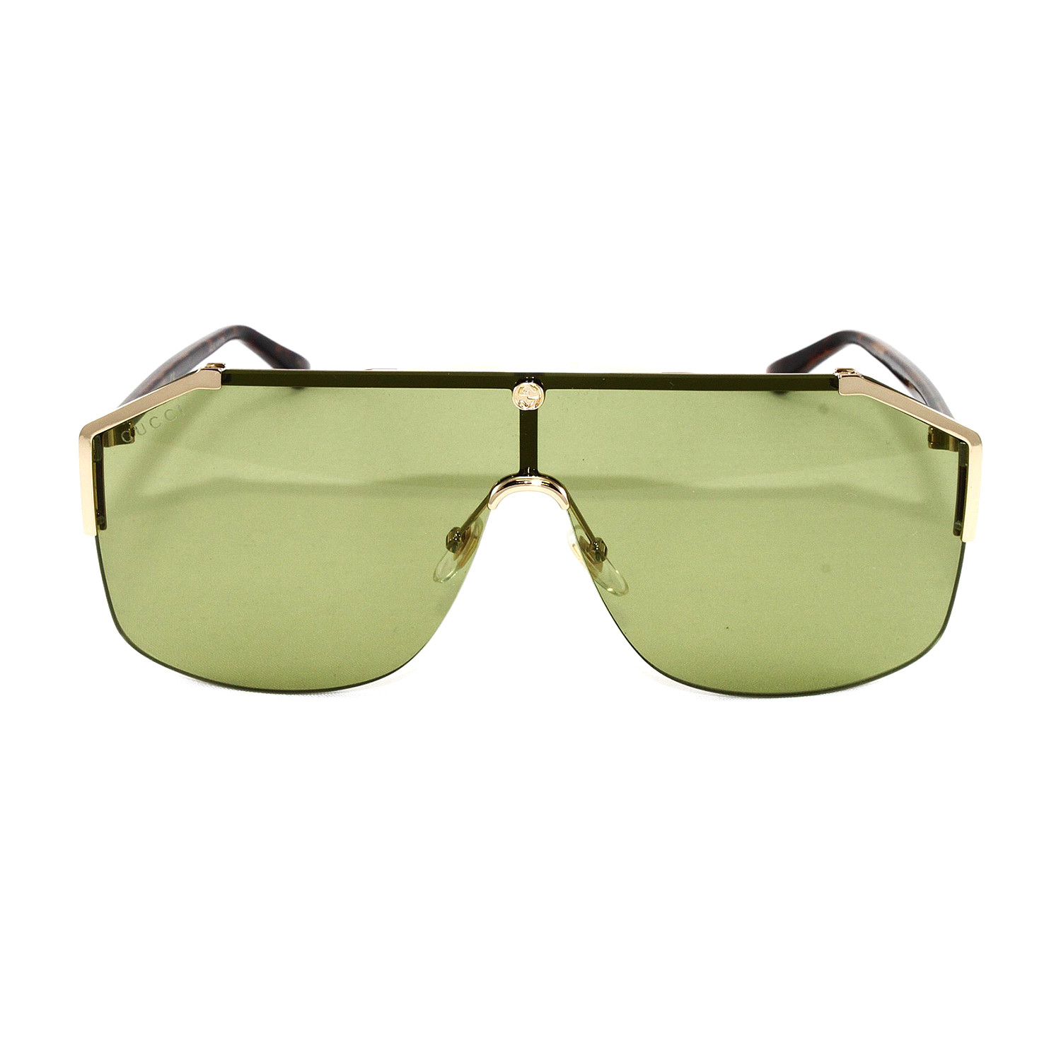 bb844909 Unisex GG0291S Sunglasses // Gold Avana + Green - Gucci - Touch of ...