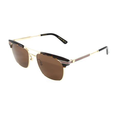 Unisex GG0287S Sunglasses // Havana + Gold