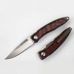 Mahogany Fold Blade // Silver