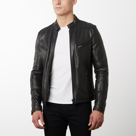 Daniel Lamb Leather Biker Jacket // Black (Euro: 44)