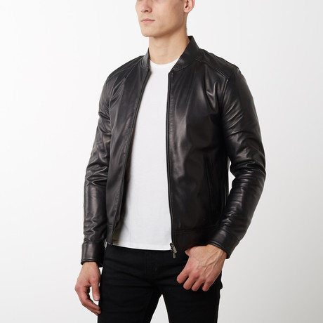 Marlon Lamb Leather Jacket // Black (Euro: 52)
