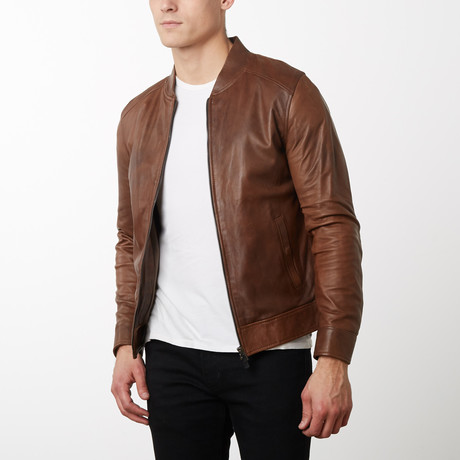 Marlon Vintage Lamb Leather Jacket // Tan (Euro: 44)