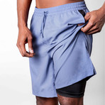 Warrior II Shorts // Storm Blue (2XL)