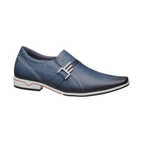 Izaiah Buckle Slip-On Dress Shoes // Blue (US: 6.5)