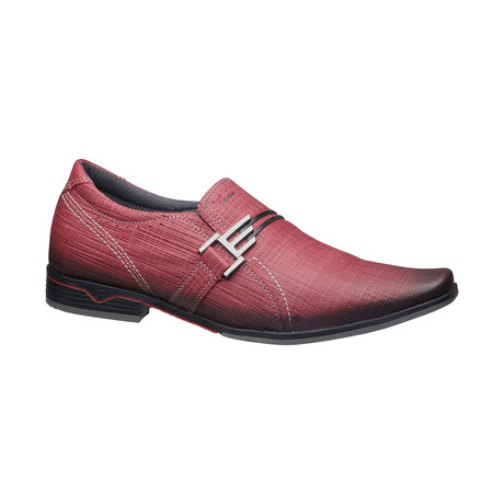 Izaiah Buckle Slip-On Dress Shoes // Burgundy (US: 6.5)