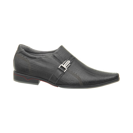 Keon Buckle Slip-On Dress Shoes // Black (US: 6.5)