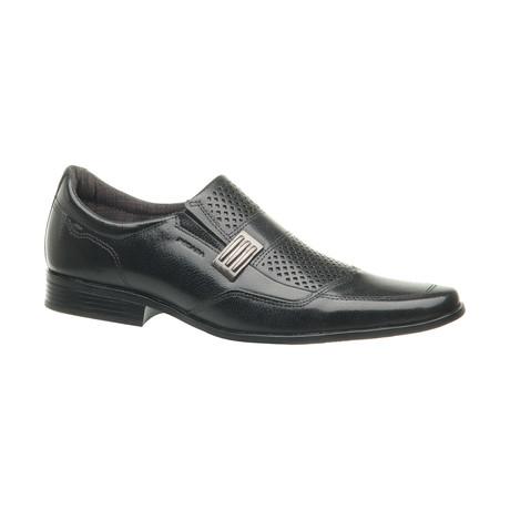 Jerimiah Buckle Slip-On Dress Shoes // Black (US: 6.5)