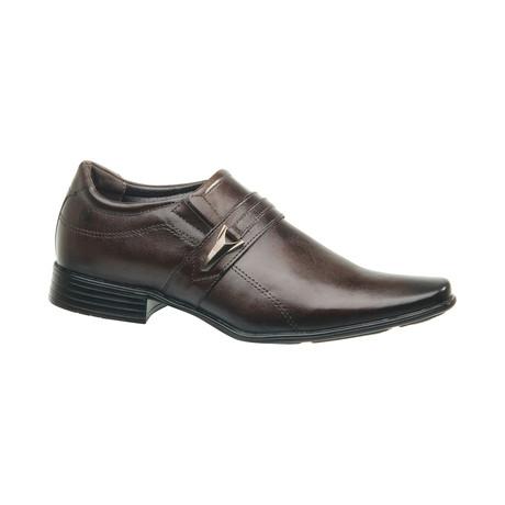 Luca Buckle Slip-On Dress Shoes // Brown (US: 6.5)