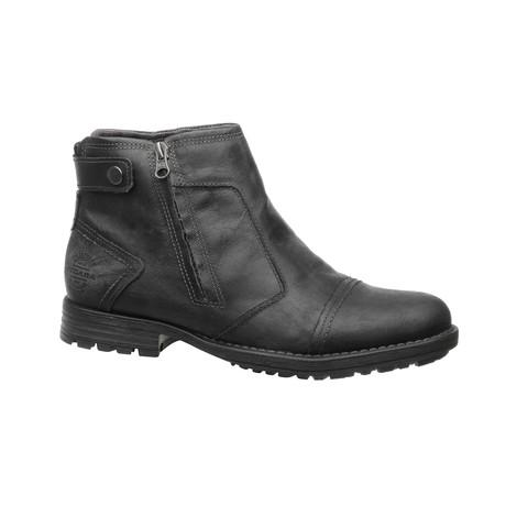 Damari Low Zipper Boot // Black (US: 6.5)