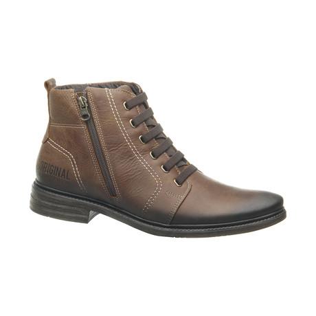 Collin Low Zipper Boot // Light Brown (US: 6.5)
