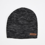 Spaced Dyed Beanie // Black + Charcoal