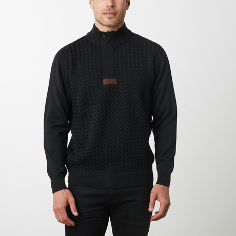 Paolo Lercara Cable Sweater// Black (S)