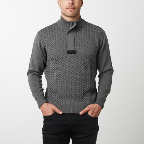 Paolo Lercara Cable Sweater // Charcoal (S)