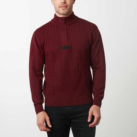 Paolo Lercara Cable Sweater // Wine (S)