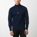 Paolo Lercara Cable Sweater // Navy (3XL)