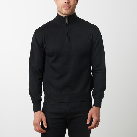 Paolo Lercara Half-Zip Sweater // Black (S)