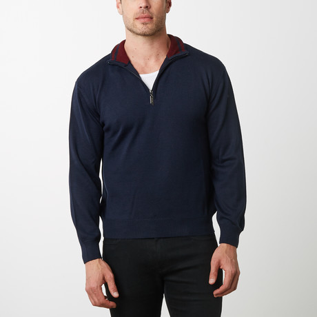 Paolo Lercara Half-Zip Sweater // Navy (S)