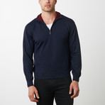 Paolo Lercara Half-Zip Sweater // Navy (4XL)