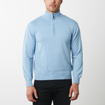 Paolo Lercara Half-Zip Sweater // Sky (3XL)