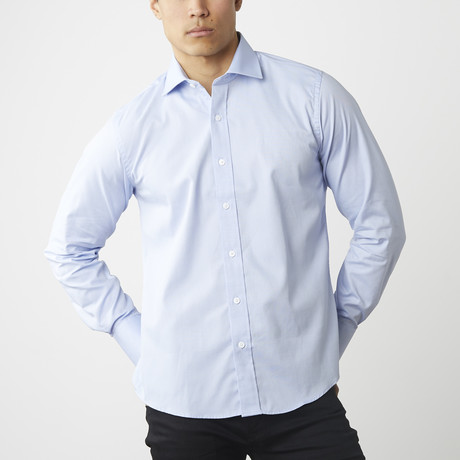 The Grind Button-Down Shirt // Blue (XS)