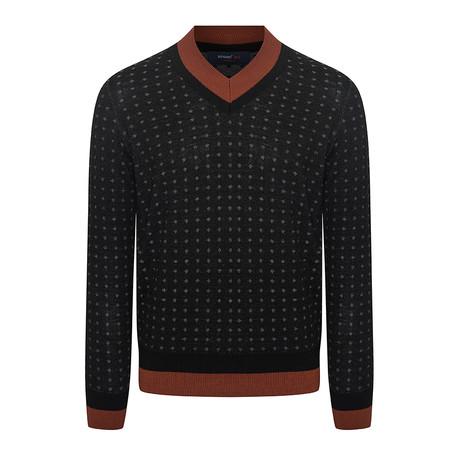 Yaka Triko Sweater // Black + Gray (L)