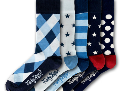 Funky Steps Famously Loud Socks Raphael Socks // Set of 5 by Touch Of Modern - Denver Outlet