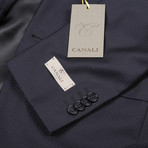 Men's Patterned Suit // Navy Blue (Euro: 44)