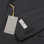 Men's Suit // Charcoal + Black (Euro: 44)