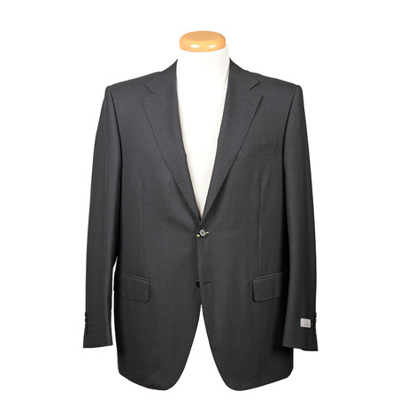 Men's Suit // Charcoal + Black (Euro: 44)