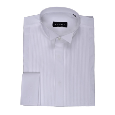 French Cuff Tuxedo Collar Shirt // White (3XL)