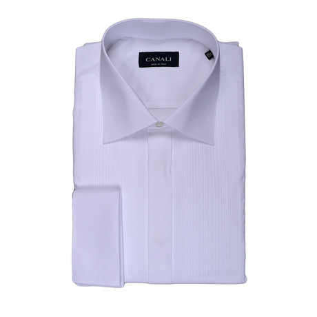 French Cuff Tuxedo Shirt // White (3XL)