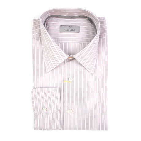 Striped Modern Fit Shirt // Lilac (XS)
