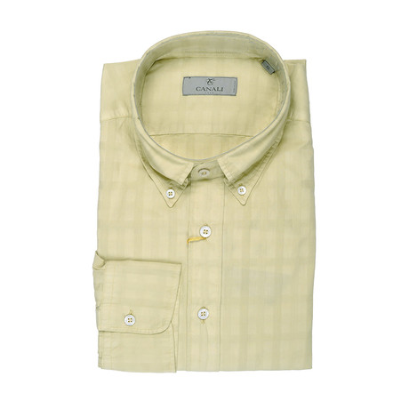 Slim Fit Shirt // Yellow (XS)