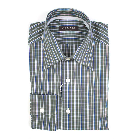 Plaid Regular Fit Shirt // Green (XS)