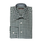 Plaid Modern Fit Shirt // Green + Gray (S)