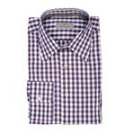Plaid Modern Fit Shirt // Purple + Pink (XS)