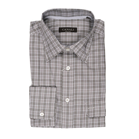 Plaid Slim Fit // Gray (XS)