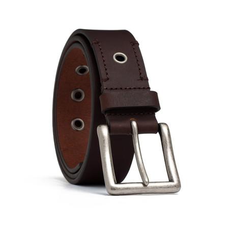 """Leather Belt // Brown (32"""" Waist)"""