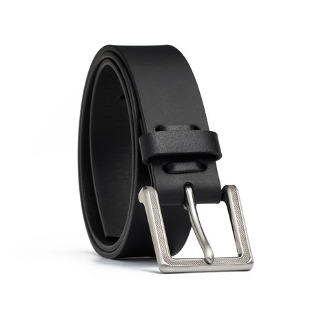 "Leather Jean Belt // Black (32"" Waist)"