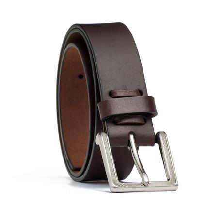 "Leather Jean Belt // Brown (32"" Waist)"
