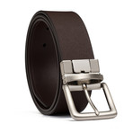 "Reversible Leather Belt // Brown (32"" Waist)"