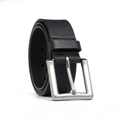 """Vintage Genuine Leather Belt // Black (32"""" Waist)"""