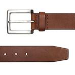 "Vintage Genuine Leather Belt // Cognac (32"" Waist)"