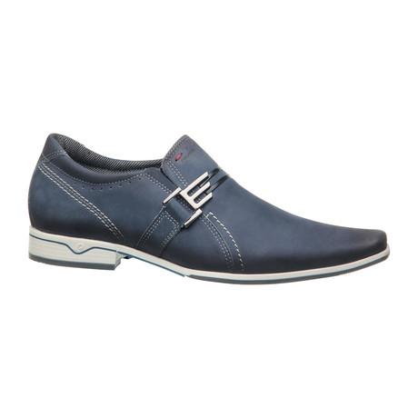 Niko Buckle Slip-On Dress Shoes // Blue (US: 6.5)