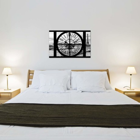 "Giant Clock Window - View Of The Seine // Philippe Hugonnard (18""W x 26""H x 0.75""D)"