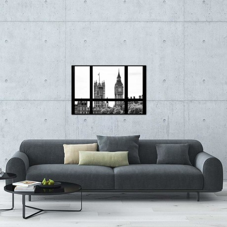 "Loft Window View - Big Ben London // Philippe Hugonnard (18""W x 26""H x 0.75""D)"