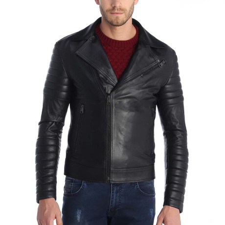 Cyril Leather Jacket // Black (S)