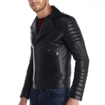 Cyril Leather Jacket // Black (XL)