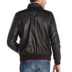 Benton Leather Jacket // Brown (3XL)